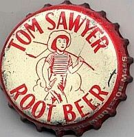 Tom Sawyer Root Beer, bottle cap | Middleton, Massachusetts USA | 1956-1965