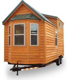 """Shenandoah 160 Sq. Ft. Tiny House on Wheels by """"Tiny House Company"""" - bay window over the trailer tongue"""