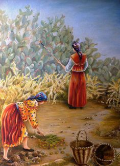 Landscape Kabyle. made by a particular painter whose name is Katy. +++++++++++++++++++ https://es.pinterest.com/carrerrec/food-cooking-feasting-fasting/