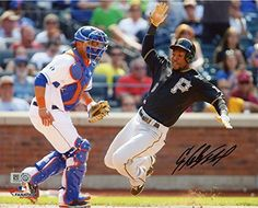 Starling Marte Pittsburgh Pirates Autographed 8'' x 10'' Sliding Home Photograph - Fanatics Authentic Certified