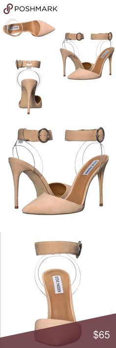"""NEW! Steve Madden D'Orsay Nude Pumps Brand new Material: Suede  Synthetic sole  Shaft measures approximately 3.25"""" from arch Ankle Strap Style Shoe Trendy and comfortable. Steve Madden Shoes Heels"""