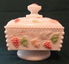 Westmoreland Beaded Glass Honey Dish. Home~Antique Beaded Glass