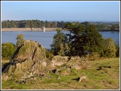 Cropston Reservoir. Overlooking this reservoir from a viewpoint in Bradgate Park. Cropston Reservoir, Leicestershire, Cropston
