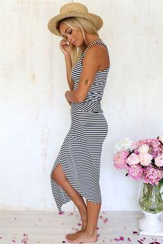Chelsea Dress - Stripe   SABO SKIRT