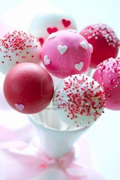 バレンタインケーキポップス ロイヤリティーフリーフォト、ピクチャー、画像、ストックフォトグラフィ. Image 12109219.