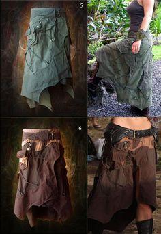 Medieval Craft Skirt by CyberGypsyFashion on Etsy