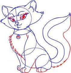 how to draw a cartoon cat step 5