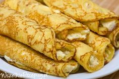 Naleśniki z serem i cukrem waniliowym