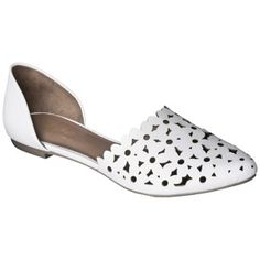 Women's Mossimo� Lainey Perforated Two-Piece Flats - Assorted Colors black!
