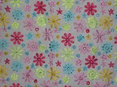 Lilly Pulitzer Skirt Size 4 Embroidered Flowers White Pink Blue Spring Summer #LillyPulitzer #ALine