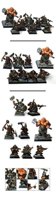 Mordheim Dwarfs Treasure Hunters warband gang
