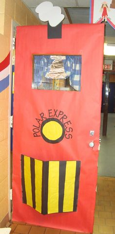 Polar Express Door. Because I loved being read that story and drinking hot cocoa in elementary