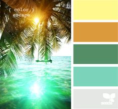 color escape: Oh this is fun for the office:) My tropical getaway