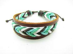 fashion Adjustable leather Cotton Rope Woven Bracelets mens bracelet cool bracelet jewelry bracelet bangle bracelet  cuff bracelet 861S
