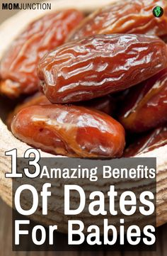 Dates form an important part of dietary supplement in everyday routine, other than fruit & nuts. Here we present 13 amazing benefits of dates for babies. Baby Food Recipes, Diet Recipes, Healthy Recipes, Healthy Fruits, Healthy Kids, Healthy Living, Healthy Food, Dates Benefits, Kids