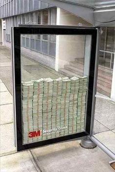 3M safe glass.(What is confidence? That is confidence!)  ‎#ads ‎#advertising ‎#outdoorads ‎#marketing ‎#losangeles ‎#business ‎#largeformatprinting ‎#design ‎#creativeads