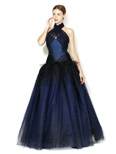 Zac Posen Metallic Bodice Tulle Skirt Gown ~ show stopper! (and also -- gasp -- $3,499)