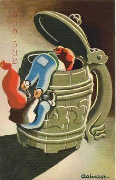 AUKRUST - Norwegian Christmas, Scandinavian Christmas, Merry Christmas And Happy New Year, Christmas Holidays, Leprechaun, Vintage Postcards, Christmas Cards, Christmas Postcards, Elves