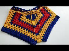 Crochet Bikini Pattern, Crochet Shorts, Knit Crochet, Swimsuit Pattern, Crochet Baby Sweaters, Crochet Clothes, Crochet Fringe, Crochet Woman, Crochet Edgings