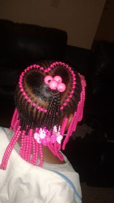 Cute Braids with Beads Hairstyles for Little Girls Toddler Braided Hairstyles, Little Girl Braid Hairstyles, Black Kids Hairstyles, Little Girl Braids, Baby Girl Hairstyles, Black Girl Braids, Braids For Kids, Braids For Black Hair, Girls Braids