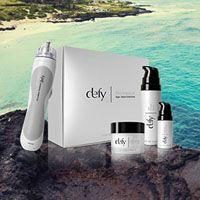 Defy, glowing skin in just six weeks.  http://mymorinda.com/3466807/en-us/opportunity