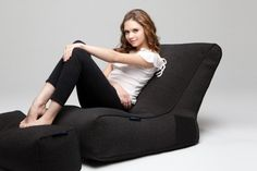 Evolution Black Sapphire by Ambient Lounge® Bean Bag Sofa, Black Sapphire, Black Fabric, Evolution, Armchair, Lounge, Classic, Bags, Beautiful