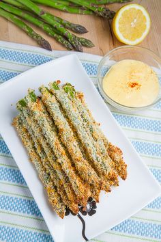 Crispy Baked Asparagus Fries ~ These are sooooo delicious!!  Just had them for dinner and I should have made more!