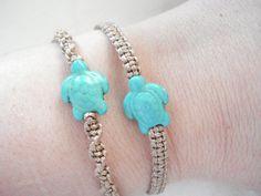 2pcs Sea turtle bracelet Stone charm Surfers Nautical Ocean inspired Summer jewelry Unisex gift Beach marine macrame couples mother daughter Surfer Bracelets, Braided Bracelets, Cord Bracelets, Bracelet Set, Summer Jewelry, Beach Jewelry, Nautical Jewelry, Unique Jewelry, Sea Turtle Bracelet