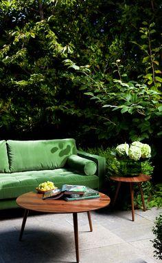New AMOEBA solid walnut tables. Elegant midcentury mod.