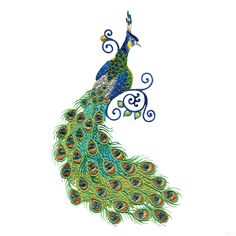 Free Embroidery Software Jef | Swnpa142 Peacock Embroidery Design