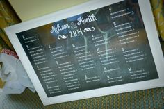 Winter Modern Jewish Wedding in Florida//show me to my seat_unique escort card display