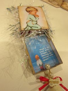 Match box Christmas ornament with bible verses