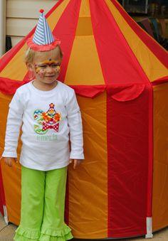 Short Sleeve Deluxe Clown Birthday Tee