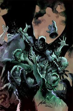 Batman Univers Tome 13 - La fin de Spyral ? (03.03.2017) // La fin de Spyral ? Le passé de Batman hante le futur de Gotham, par James Tynion IV et Rafael Albuquerque ! Dans Detective Comics, Jim Gordon devra-t-il à nouveau revêtir la combinaison de Batman ? Accompagné de Batman et de Talia al Ghul, ses parents, Robin se rend sur l'île aux dinosaures pour vaincre les Lu'un Durga. #batman #univers #spyral #urban #comics