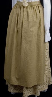 Pioneer apron - White Elegance - Makers of LDS Temple Clothes, Temple Dresses, Pioneer Costumes and more