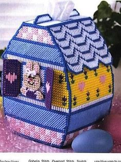 Great tissue topper, this Easter Egg Cottage will be a great addition to you holiday decor. Even has a window that opens and closes to a Easter Rabbit. So cute! Fits a boutique size box of tissues, tissues will be included. Made of 4-ply acrylic yarn over plastic canvas. Lovingly hand stitched in the USA. PLEASE FAVOR MY SHOP SO YOU DONT MISS OUT ON ANY NEW LISTINGS, I ADD SOMETHING NEW EVERY WEEK. CLICK ON THE RED HEART! THANKS FOR LOOKING. This listing is a Made to Order. I make items...