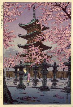 Toshogu Shrine, Ueno by Shiro Kasamatsu, 1953 (published by Unsodo)