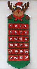 Hanging Felt Rudolph Reindeer Large Christmas Advent Calendar