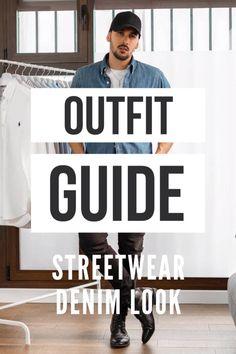 Erfahre welche Teile dazu passen! Casual Streetwear Outfit für Männer. Sportlicher casual Look mit Jeanshose, T-Shirt, Jeanshemd und Lederstiefel. Lässiges Outfit im Denim Look, passend für die Freizeit. Aktuelle Outfits für Männer mit passenden Teilen findest Du bei Favorite Styles. Herrenmode, Outfits aller Marken und Stile. Hole dir jetzt Outfit Ideen für dein Männeroutfit!