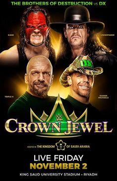 WWE Crown Jewel 2018 Shane Mcmahon, Stephanie Mcmahon, Vince Mcmahon, Kane Wwe, Wwe Ppv, Wwe Pay Per View, Jeff Hardy, Survivor Series, Sheamus