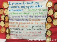 First Week in First Grade: Expectations and Anchor Charts - Learning to the Core