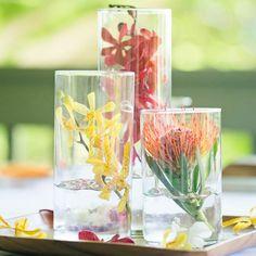 Tropical flower centerpieces | Watanabe Floral, Inc. | BluElla Photography