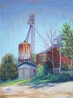 "Fran Redmon Pastel Paintings - Wolfe & Stone 1987, 9"" x 12"""