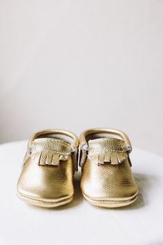 Baby Moccasins, Gold Classic