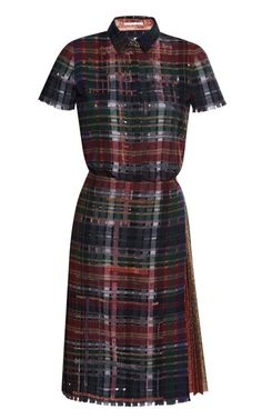 Perforated Flannel And Lurex Applique Dress by Marco de Vincenzo for Preorder on Moda Operandi