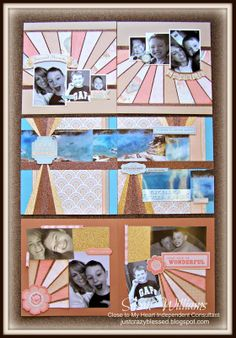 "Just Crazy Blessed - CTMH Balloon Ride Starburst Workshop! Creates (3) Layouts - (6) 12"" X 12"" Pages. For both Customers AND Close to My Heart Consultants.  All Files (Cutting guides, Starburst tutorials, Starburst Assembly tutorials, etc.) will be emailed upon order confirmation. or Join my JUST CRAZY BLESSED CTMH TEAM and get this - and all my other workshops - FREE!"