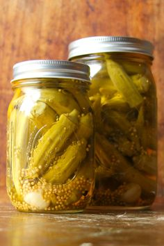These spicy okra pickles are a delicious accompaniment to the #Thanksgiving meal
