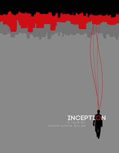 Inception Minimalist Movie Poster by Henry Alvarez, via Behance