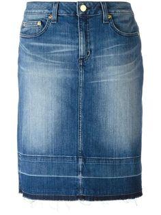 Shop Michael Michael Kors stonewashed denim skirt.