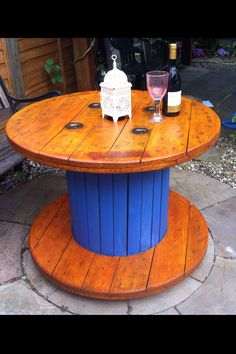 Amazing cable reel tables for home and garden